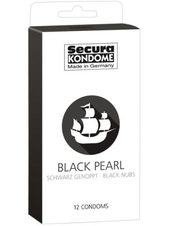 Secura: Black Pearl, Kondomer, 12-pack