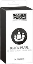 Secura: Black Pearl, Kondomer, 24-pack