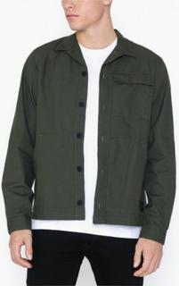 Jack & Jones Jcowodonga Shirt Ls One Pocket Skjorter Mørkegrøn