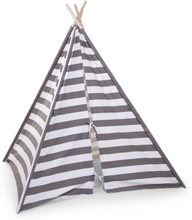 CHILDWOOD Lektält tipi kanvas 135x150x130 cm grå och vit TIPSTR