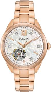 Bulova Classic Rose Gold Ladies' Diamond Watch 34mm