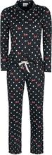 Mickey Mouse - Minnie Maus - Pünktchen und Schleifen -Pyjamas - svart