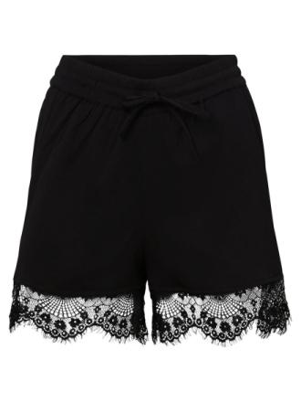 NOISY MAY Lace Shorts Women Black