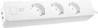 DELTACO SMART HOME grenuttag, WiFi, 2xUSB-A, 1,5m, vit
