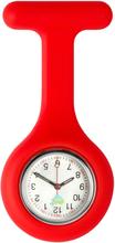 Sjuksköterskeklocka med silikonskal (Röd)