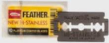 Feather Double Edge Razor Blades 10-Pcs