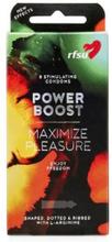 RFSU Power Boost 8 Kondomer Knotter, Ekstra Følelse, Riller