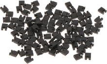 YAM 100pcs Pin Header Jumper blocks Connector 2.54 mm for 3 1/2 Hard Disk Drive CD/DVD Drive Motherboard and/or Expansion qiang