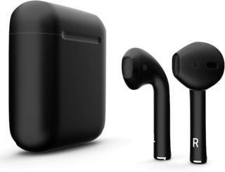 i18 TWS Tr?dl?sa h?rlurar, Bluetooth 5.0, med str?mbox, Svart