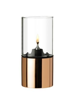 Stelton Oljelampe - kobber, klart lampeglass