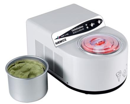 Nemox Gelatissimo Exclusive Ismaskine 1,7L hvid