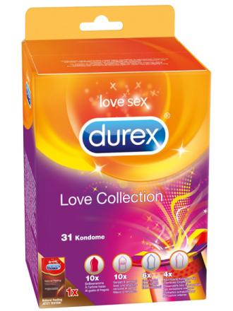Durex: Love Collection, Kondomer, 31-pack