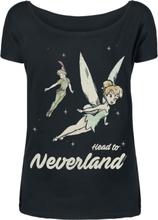 Peter Pan - Tinker Bell - Head To Neverland -T-skjorte - svart
