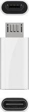 Goobay USB-Sovitin USB-C MicroUSB - Valkoinen