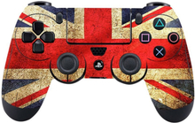 Sony PlayStation 4 - PS4 controller durable adhesive sticker - UK Flag