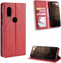 Bofink Vintage Motorola One Vision etui - Rød