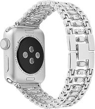 Apple Watch Series 4 40mm Krystall Rhinestone Dekor Klokkereim - Sølv