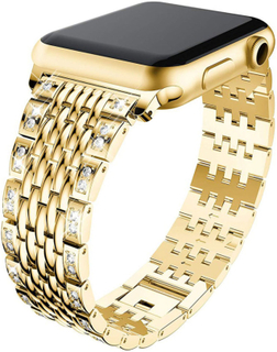 Apple Watch Series 4 40mm diamond décor watch band - Gold
