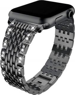 Apple Watch Series 4 44mm diamond décor watch band - Black