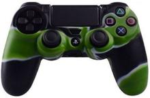 Sony Playstation 4 - Ps4 Kamuflasje Silikonetui - Svart / Grønn