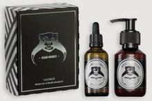 Beard Monkey GIFT SET Lakrits Shampoo & Skäggolja Grå