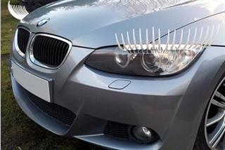 Øjenvipper til bilen (2 Stk.) - Hvid