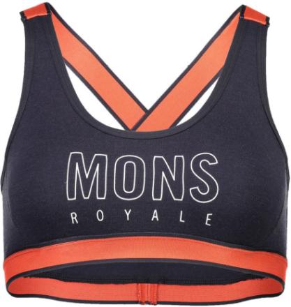Mons Royale W's Stella X-Back Bra Coral/9 Iron XS 2018 Yoga klær