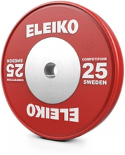 Eleiko Vektskive IWF Weightlifting Competition, 25 kg, rød, Eleiko Vektskiver 50 mm