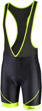 Rogelli cykelbyxor Malosco, Black/yellow, size L