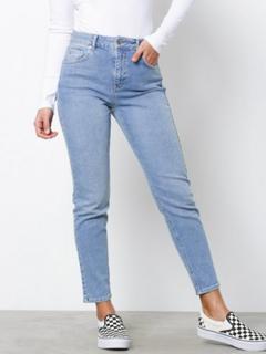 Gina Tricot Bonnie Slim Mom Jeans Straight Mid Blue