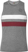 Lancaster Slim-fit Striped Mélange Drirelease Piqué Tank Top - Gray