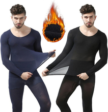 Winter 37 Degree Constant Temperature Thermal Underwear for Men Ultrathin Elastic Thermo Underwear Seamless Long Johns