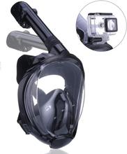 INF Helmask cyklop med snorkel och GoPro fäste - svart - S/M