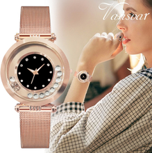 Vansvar Modern Fashion Black Quartz Watch Women Mesh Stainless Steel Watchband High Quality Casual Wristwatch Gift for Female533