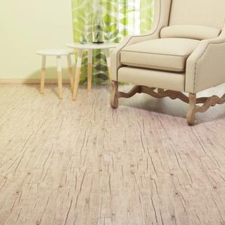 vidaXL PVC-gulvplanker 5,26 m² egetræ afvasket