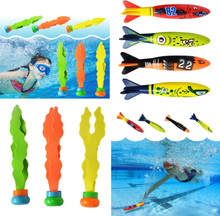 Shark Torpedo Rocket Throwing Toy Pool Game Toy Seaweed Grass Swimming Pool Summer Beach Sticks Toys For Children