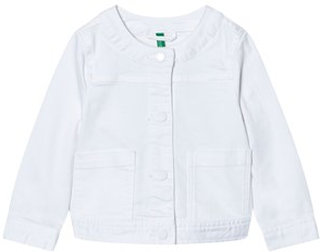 United Colors of Benetton Cropped Denim Jacka Vit XL (10-11 år)