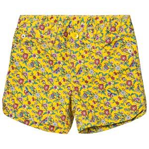 GAP Twill Midi Shorts Yellow Floral 14 (13-14 år)