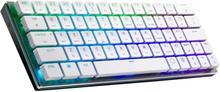 Cooler Master SK621 Low Profile Compact Trådlöst RGB Tangentbord Vitt [MX Red]
