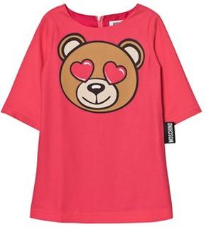 Moschino Kid-Teen Pink Bear Heart Dress 8 years