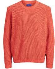 JACK & JONES Strukturerad Tröja Man Orange; Red