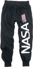 NASA - Flag and Logo - Träningsbyxor - svart