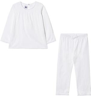 Petit Bateau Embossed Lace Pyjamas Vit 2 år
