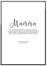 Poster, Mamma (30x40 cm)