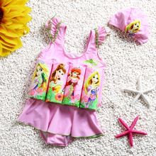 Children's Swimwear Floating Swimsuit One-Piece Swimwear For Little Girl Buoyant Float swimming Suit Baby Girl Dress Swimsuit