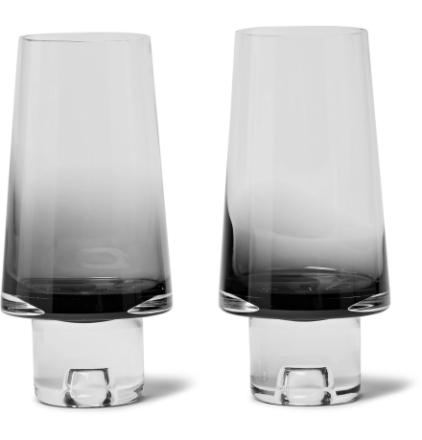 Tank Set Of Two Dégradé High Ball Glasses - Black