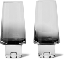 Tank Set Of Two Dégradé High Ball Glasses - Black