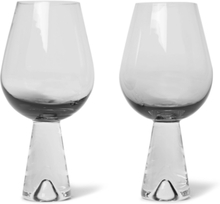 Tank Set Of Two Dégradé Wine Glasses - Black
