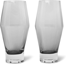 Tank Set Of Two Dégradé Beer Glasses - Black