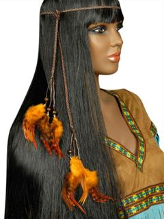 Indianer hårpynt med fjer til voksne One-Size